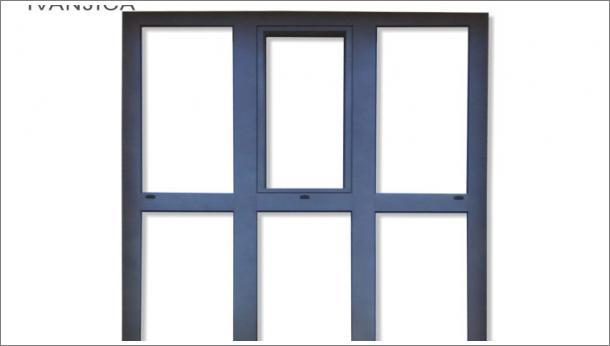 Drvo aluminijum fiksna staklena stena sa jednim oknom na otvaranje, stolarija Gradac Ivanjica.