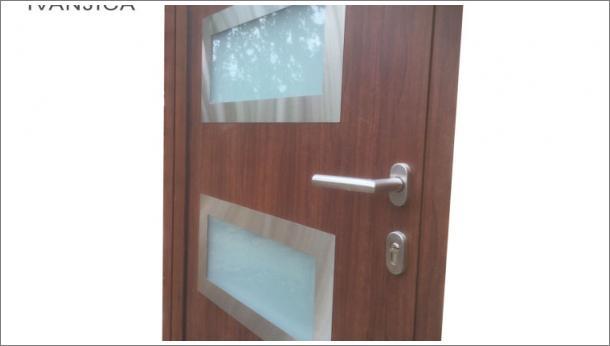 Drvo aluminijum vrata - detalj