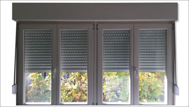 Dupli dvokrilni prozor, eurofalc 68, sa aluminijumskom roletom, stolarija Gradac
