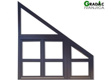 Drveni kosi prozor, višekrilni, za potkrovlje - stolarija Gradac, Ivanjica